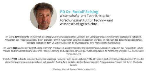 Dr. Rudolf Seising